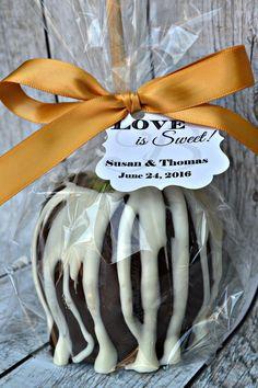 10 Caramel Apples - Milk Chocolate - Wedding Favors - Fall Favor - Chocolate Caramel Apple - Bridal Shower Favor - Birthday Party Favor by ChocolateExpress on Etsy https://www.etsy.com/listing/243115437/10-caramel-apples-milk-chocolate-wedding
