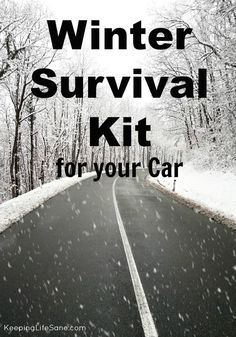 Are you prepared for driving this winter? Winter Survival Kit for the Car