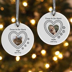 In Loving Memory Personalized Pet Ornament