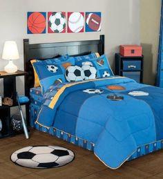 Special Collection ' Pelotas ' Aqua Blue 'Kids Bedding Co...