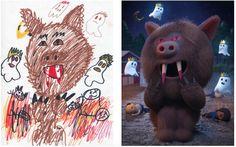 Artists Reimagine Children's Monster Drawings to Promote Creativity - My Modern Met