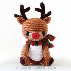 Rudy the reindeer amigurumi pattern