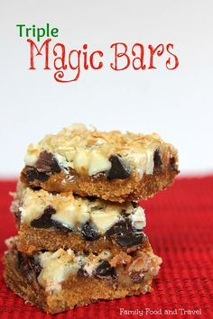 A unique twist on a Holiday Classic - these Triple Magic Bars are delicious, freezable and easy enough for little hands to make.