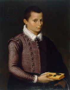 Portrait of a Boy Holding a Book (oil on lindenwood panel) creator Italian School, (16th century) nationality Italian location Museum of Fine Arts, Houston, Texas, USA medium oil on lindenwood panel date 16th (C16th)
