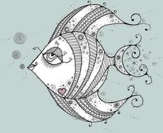 tropical fish zentangle - Google Search