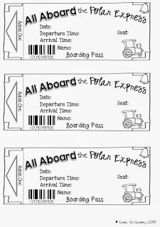 "the Polar Express"" - Free printable tickets to turn reading ""The Polar ..."