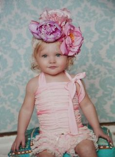 Lovely little outfit with an over the top headband!