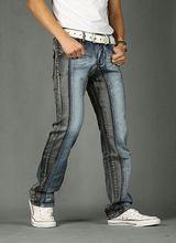 2015 nuevo estilo del verano caliente venta pantalones vaqueros para hombre de mezclilla moda famosa marca de algodón rectos ocasionales Patchwork Jeans hombre Jeans(China (Mainland))