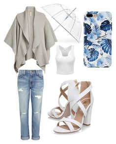 """""""Rainy sunday morning brunch"""" by smilie-anne ❤ liked on Polyvore featuring Current/Elliott, Miss KG, ShedRain and Burberry"""