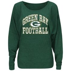 1ed1f7308 Women s Green Bay Packers Majestic Green Sweet Signal Dolman Long Sleeve  Tri-Blend T-