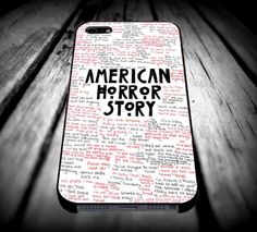 American Horror Story Quotesfor iPhone 4/4s/5/5s/5c/6/6 Plus Case, Samsung Galaxy S3/S4/S5/Note 3/4 Case, iPod 4/5 Case, HtC One M7 M8 and Nexus Case ***
