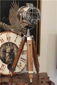Vintage industrial nautical lamp