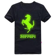 Night Glow Unisex T-shirt Short Sleeve - Ferrari - Promotional Offers- - TopBuy.com.au