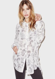 Chemise oversize Alix - Fête Impériale  #toiledejouy #grey #lilasalet #shirt #chemise