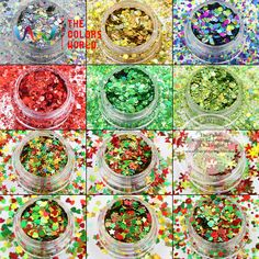 XmasT-001  Mix Colors and shapes Christmas Glitter for nail art  makeup DIY decoration and Holiday decorations