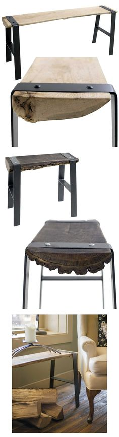 The Urban Forge bench is perfect as an accent piece in the entry or mudroom, but also looks wonderful at the foot of the bed. The transitional design sits comfortably in contemporary or rustic spaces. Find the Urban Forge Bench as seen in the benches collection at www.timelesswroug...
