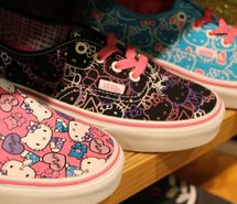 by barbie, cute, hello kitty, hello kitty shoes, hello kitty vans, photography, shoes, vans