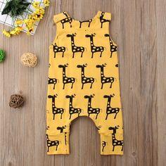 US Newborn Baby Boy Girl Cartoon Giraffe Romper Bodysuit Jumpsuit Outfit Sunsuit Cute Newborn Baby Boy, Baby Girl Romper, Diy Baby, Baby Overalls, Jumpsuit Outfit, Baby Jumpsuit, Summer Romper, Giraffe Print, Girls Rompers