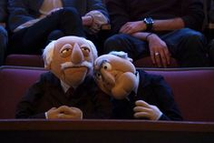 """See a bunch of new pictures from the upcoming Muppets episode, """"Hostile Makeover"""", featuring Josh Groban and Lips! Jim Henson, Statler And Waldorf, Fraggle Rock, Grumpy Old Men, The Muppet Show, The Dark Crystal, Jenner Sisters, Kendall And Kylie, Kendall Jenner"""