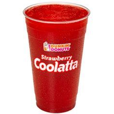 Dunkin' Donuts Coolatta ❤ liked on Polyvore featuring food, drinks, food and drink, fillers and comida