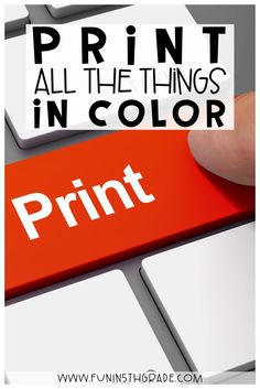 Are you looking to print all the pretty things in color on a budget??  Here are some great tips on printing in color from a fellow teacher who needed all the colorful things!  Learn how she prints all her anchor charts, worksheets, flip books, task cards, posters and more in color for cheap! Great ideas for teachers! Tips on how to find the perfect printer, ink, cardstock and more.  #teachingtips