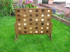 Giant wooden connect 4. Pretty sneaky.