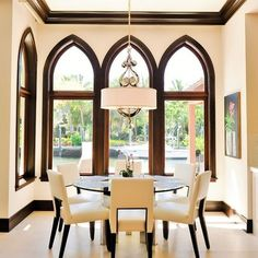 Paint color with dark wood trim