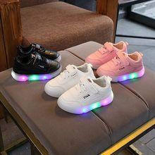 23b027e76 LED iluminado nueva moda de los niños de la marca zapatos casuales todos  temporada gancho y