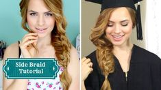 The Perfect Summertime / Graduation Side Braid! The Perfect Summertime / Graduation Side Braid! Try New Hairstyles, Side Braid Hairstyles, Summer Hairstyles, Trendy Hairstyles, Kayley Melissa, Cool Braids, Side Braids, Side Braid Tutorial, Graduation Hairstyles