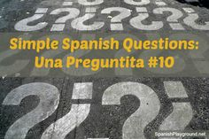 Simple Spanish questions for games with language learners. Kids practice vocabulary and language with these questions. Part of the Una Preguntita series.