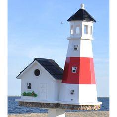 Home Bazaar Montauk Point Lighthouse Birdhouse - HB-9084S