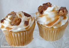 Snickers filled cupcakes