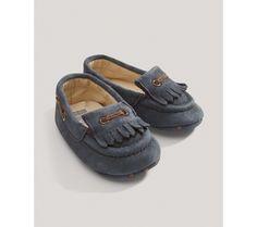 Fiús kék makkos cipő