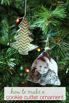 How to make a cookie cutter ornament with metal cookie cutters!  This craft is so easy and fun to make. Plus, you might already have everything you need right now!  It's  a great gift idea or simple addition to your Christmas tree.  Pin this!