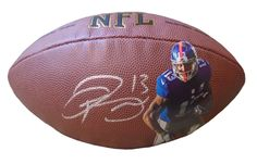 NY Giants Odell Beckham Jr. signed NFL Wilson full size football w/ proof photo.  Proof photo of Odell signing will be included with your purchase along with a COA issued from Southwestconnection-Memorabilia, guaranteeing the item to pass authentication services from PSA/DNA or JSA. Free USPS shipping. www.AutographedwithProof.com is your one stop for autographed collectibles from LSU Tigers & NCAA sports teams. Check back with us often, as we are always obtaining new items.