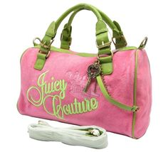Juicy Couture Artistical Signture Crest Embroidery Lightpink Bag  $113.35