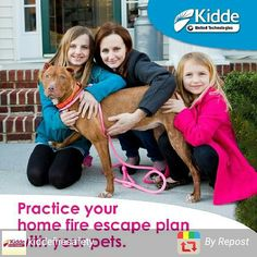 Practice your escape plan with your pets. --- #NationalPetFireSafetyDay #firesafety Photo Credit: @iloveyourfurryface #teamkidde #ad