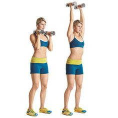 overhead press with weights