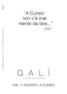 GALI' advertising #adv #brandidentity #marketing #creative #playadv #design #italian #food #cuneo #newopen