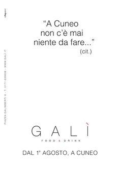GALI' advertising #adv #brandidentity #marketing #creative #playadv #design #italian #food #cuneo #newopen