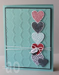 Stampin' Up! Valentine by Allison Ohran, Sweet Impressions: Hearts all in a Row