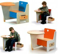 Modern Furniture for Kids, Top 15 Creative Tables for Kids Rooms is part of Modern Kids furniture - Modern furniture for kids is an important part of creating comfortable environment for children to grow, rest and play Modern Kids Desks, Modern Kids Furniture, Kids Room Furniture, School Furniture, Furniture Ads, Furniture Design, Furniture Stores, Children Furniture, Furniture Online