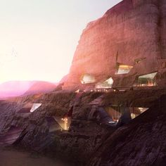 proposed resort design in Wadi Rum, Jordan