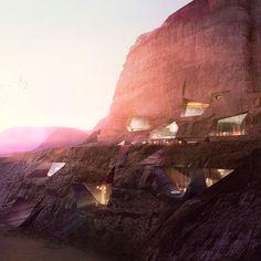 proposed resort design in Wadi Rum, Jordan