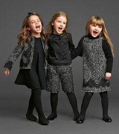 kids wear in dollce&gabbana Little Girl Fashion, Little Girl Dresses, Kids Fashion, Fashion Top, Modest Fashion, Trendy Fashion, Luxury Fashion, Winter Fashion, Kid Outfits