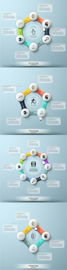 Modern Infographic Cycle Template (4 Items) — Photoshop PSD #abstract #process • Available here → https://graphicriver.net/item/modern-infographic-cycle-template-4-items/16101398?ref=pxcr
