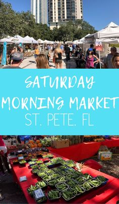 A guide to St. Pete's Saturday Morning Market, the largest farmers market in the southeast displaying local culture in the heart of The Burg. Visit Florida, Florida Vacation, Florida Travel, Florida Beaches, Travel Usa, Florida Trips, Vacation Rentals, Vacation Destinations, Dream Vacations