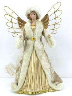 "16"" Gold Satin Dress Angel Tree Topper with Fur Trim by Seasons Designs, http://www.amazon.com/dp/B009R8OHA0/ref=cm_sw_r_pi_dp_pfL1rb107GSM7"