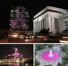 "Philadelphia Thinks Pink For Breast Cancer Awareness Month: Buildings, Bridges And Boats Turn Pink Throughout October For The 11th Annual ""Lights For The Cure"""