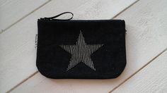 Pochette en jean avec étoile simili : Autres sacs par boubouille-cie